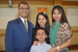Joshua and his family